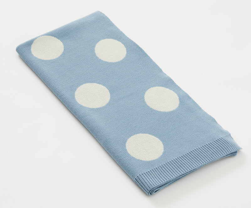 Merino Baby Child Blanket, Circles