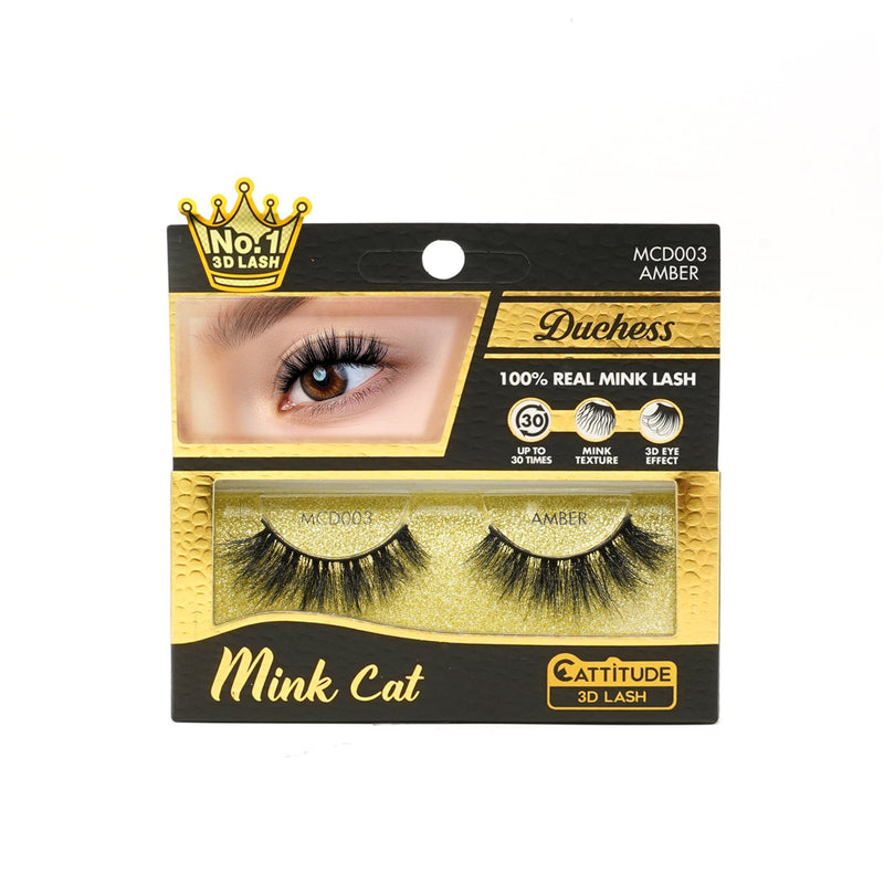 AMBER - DUCHESS MINK CAT 3D LASHES