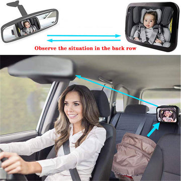 Car baby safety rearview mirror baby rearview observation mirror acrylic is not fragile
