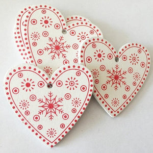 10 PCs Natural Wood Christmas Ornaments
