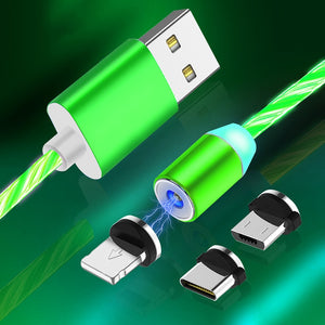 Led Magnetic ALEXIEN 3 In 1 Usb Charging Cable