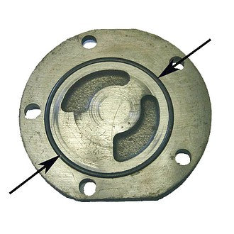 O ring, for oil pump cover to crankcase 2cv6 etc