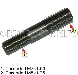 Stud oversize repair for cylinder head exhaust port, M7x1.00 & M8x1.25  x 36.