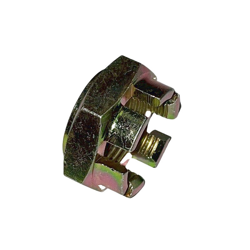 Driveshaft hub nut, outer, 32mm across flats, castellated.