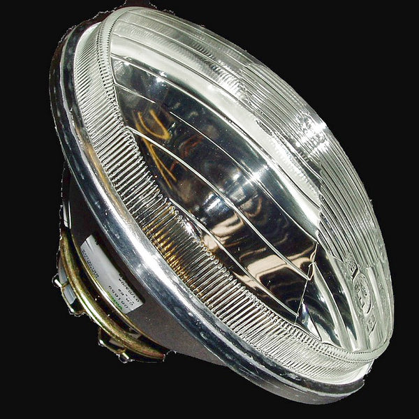 Headlight lamp reflector/glass optical unit, round, Genuine Cibie, 2cv6, Dolly etc., 1970 onward, HY van. SEE NOTES
