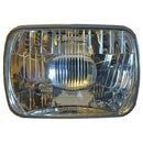 Headlight lamp reflector/glass unit 2cv, square (rectangular), LEFT HAND DRIVE (France etc.) only. See notes.