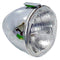 Complete headlamp unit, original VALEO, chromed plastic shell with left hand drive H4 P43t fitting, SEE NOTES.