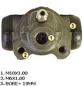 Wheel cylinder, rear, 2cv/AU/AZU, 6/52>7/64.
