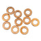 Copper sealing washer 7mmx10mmx1.0mm, used for cylinder head oil feed etc, pack of 10 washers.
