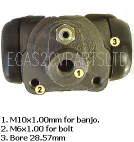Wheel cylinder AK/AZU, front, 03/1963 to 03/1968.