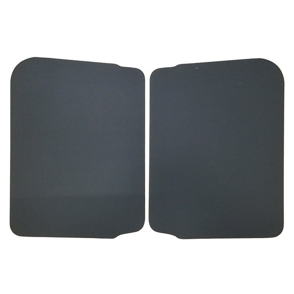 Door board card panel Acadiane front PAIR (set of 2), black. See notes