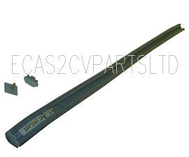Rubber, grey, central trim & fittings for narrow rear bumper 61590a, fitted 07/1963 until 1974.