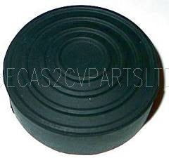 Pedal rubber, brake or clutch, round, for old 2cv