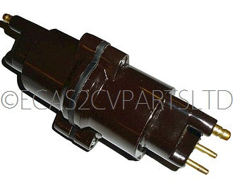 Ignition coil, made by Valeo in France, includes brackets, 2cv6 etc., 12 volt, 1968 onwards.