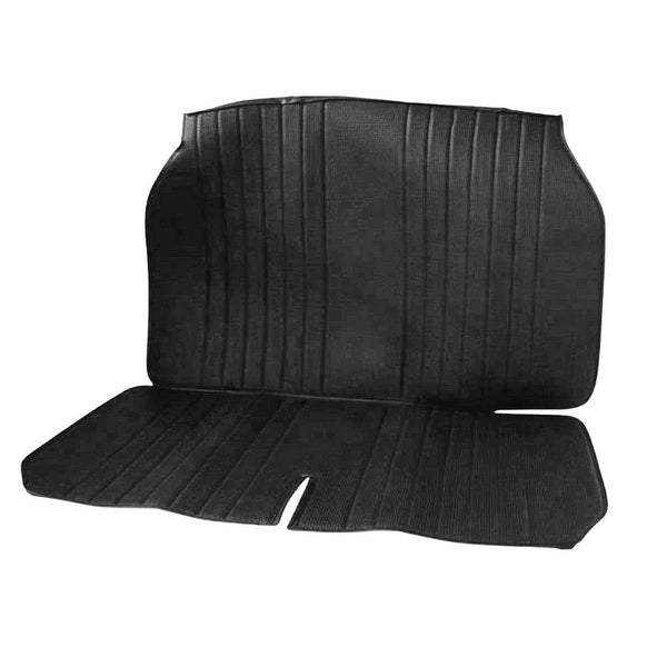 Bench seat cover, rear, black targa vinyl for 2cv special