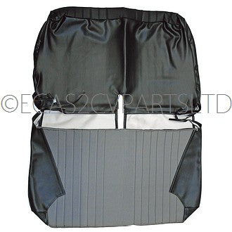 Bench seat cover, front, black targa vinyl for 2cv club ZERO STOCK