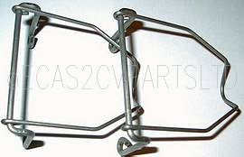 Window stay, pair, stainless steel, 2cv, short, holds window open about 50mm.
