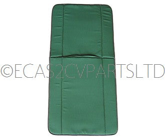 Rear bench seat cover pair (2 covers), left and right, green/light green stripes in satin cotton also fit front AZU, AK400, AK35