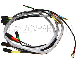 Headlight wiring loom harness for two headlamps, 2cv 1965 to 1970