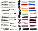 Connector set 4mm, 10 pairs male, female with rubber + colour sleeves.