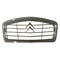 Grille, grey plastic, chrome chevrons, standard on 2cv special.