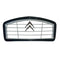Grille, grey plastic with black surround, chrome chevrons, 2cv.