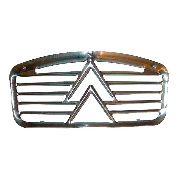 Grille, 2cv, 1960s type (also suitable for Dolly or Charleston), aluminium with large chevrons, SEE NOTES ABOUT AGRICULTURAL NATURE OF 2CVS