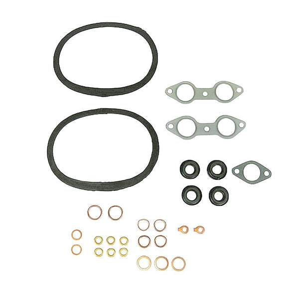 Engine gasket set, 2cv 1949 to 1960, 3 stud, separate push rod tube seals