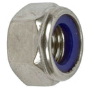 Nut, nyloc, M10x1.5, for steering rack ball pins.