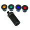Dashboard warning light, as original, 4 coloured lenses supplied, black bezel