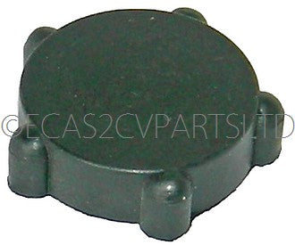 Rubber cover for vent flap shutter adjuster wheel.