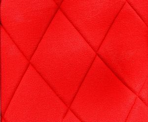 Seat cover complete 2cv 3 piece set, red diamond stitched, 2 rounded corners. See details.