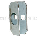 Body B (middle) door post lock mount plate only, left