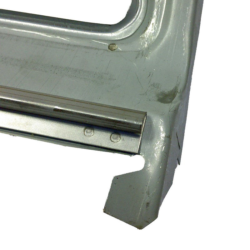 Wind screen lower surround panel, external upper scuttle, 2cv, zinctec steel repair section only.