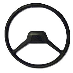 Steering wheel, 2 spoke, hard black plastic, 2cv special