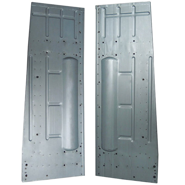 Pair of floor pan for Acadiane only, zinc electroplated steel.