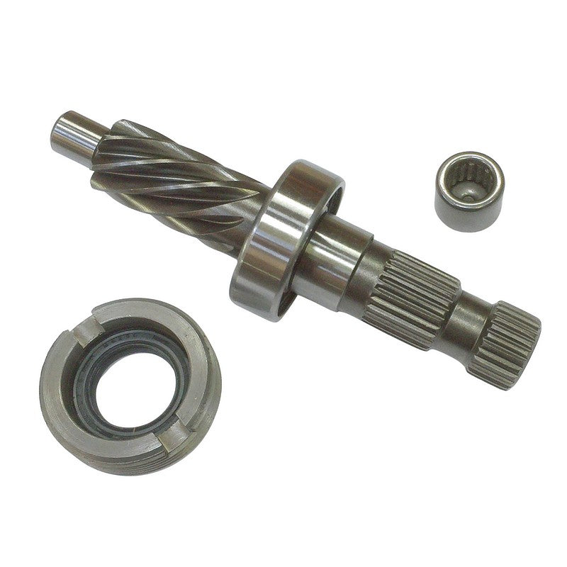Steering pinion 8 teeth, super high original quality, inc. ring nut, seal and needle bearing.