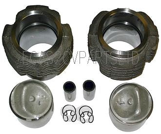 Barrel and piston set 425cc, 66mm diam. (2 barrels,2 pistons and rings) 7.5:1