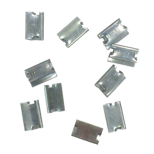 Pack of 10 upholstery edge clips used on the front crossmember of some seat covers