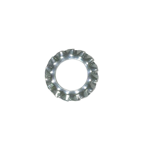 Washer, shakeproof, plated, M7 x 12.3mm. Per 10