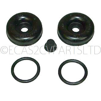 Repair kit, O ring seals, caps & nipple cover only, front wheel cyl. 28.58mm, up to 1981.
