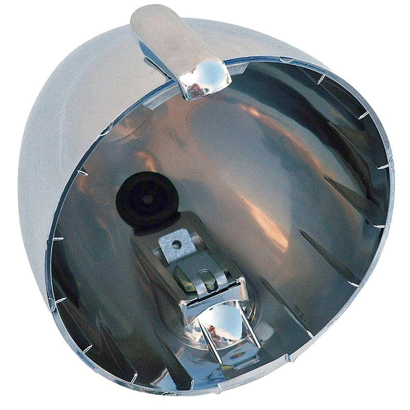 Headlight lamp shell, 2cv, simply chromed plastic, round, Charleston etc. SEE IMPORTANT NOTES
