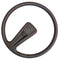 Steering wheel single spoke, 383mm diam., For Charleston or Club, original soft black type. Fits Dolly and Special perfectly.