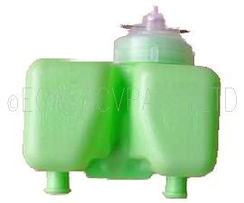 Reservoir inc cap, dual circuit mast. cyl. green, LHM type.