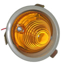 Indicator light, 2cv, right, complete with grey insert & fittings, round, in front of wing, complete.