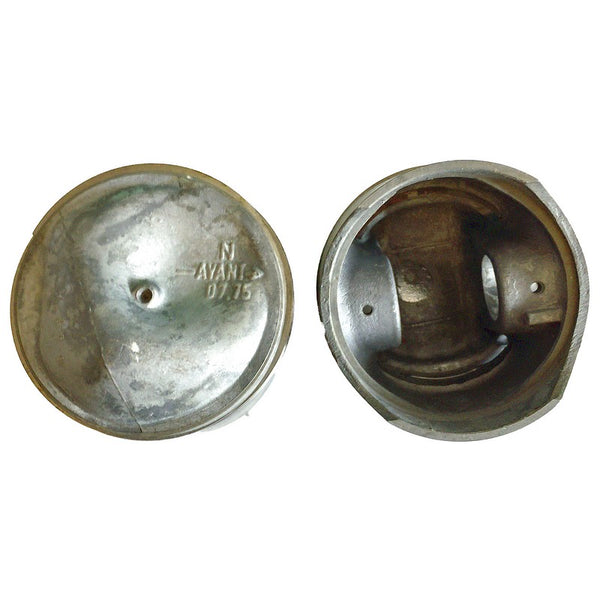 Piston and rings set only, Ami6 AK350, 7.75:1 CR. 602cc M4 engine, 75mm (1mm over size), price for 2 pistons