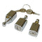 Lock barrels, set of 3 and 2 keys, ONLY FRONT doors Dyane & Acadiane, button type.