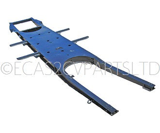 Chassis subframe, 2cv AZ, AZL, original pattern, for drum braked 2cv. Weight just 54kg ZERO STOCK, OUT OF STOCK