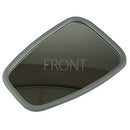 Mirror glass with fitted plastic surround, convex, ready to easily fit one Citroen 2cv6 mirror head. Instruction below.
