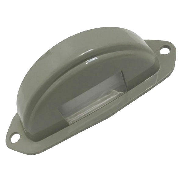 Thin grey number plate lamp cover lens for split 2cv AZ or AZU van